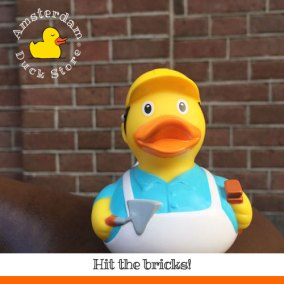 Duck the Builder on the job @ Amsterdam-Oost