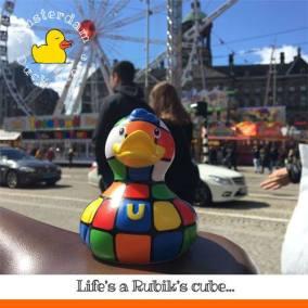 Ribik's cube rubber duck Dam Square Amsterdam Duck Store