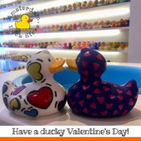 Valentine's Day ducks Amsterdam Duck Store