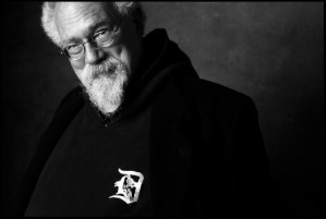 John Sinclair a resident poet at coffeeshop 420 in Amsterdam