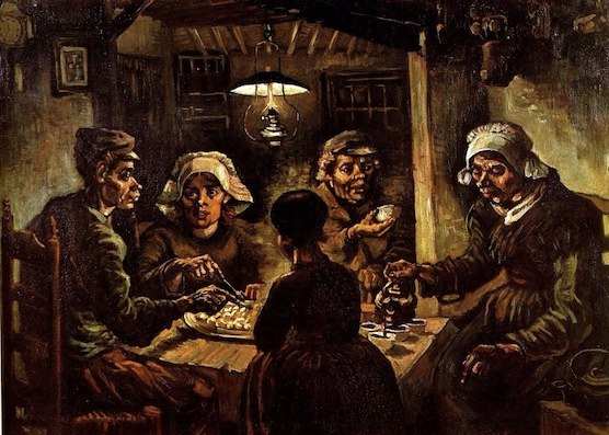 The Potato  Eaters by Vincent van Gogh. Go see it in Amsterdam!