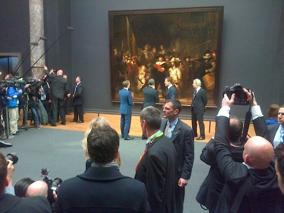 President Obama and Dutch Prime Minister Mark Rutte in the Rijksmuseum in Amsterdam.