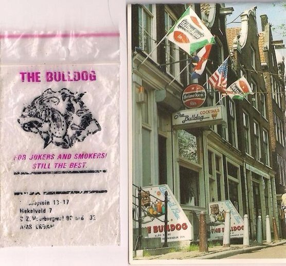 Amsterdam's Coffeeshop The Bulldog in 1986