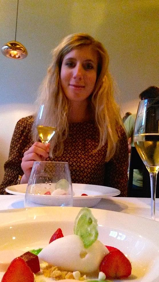 Desert at restaurant Anna Amsterdam