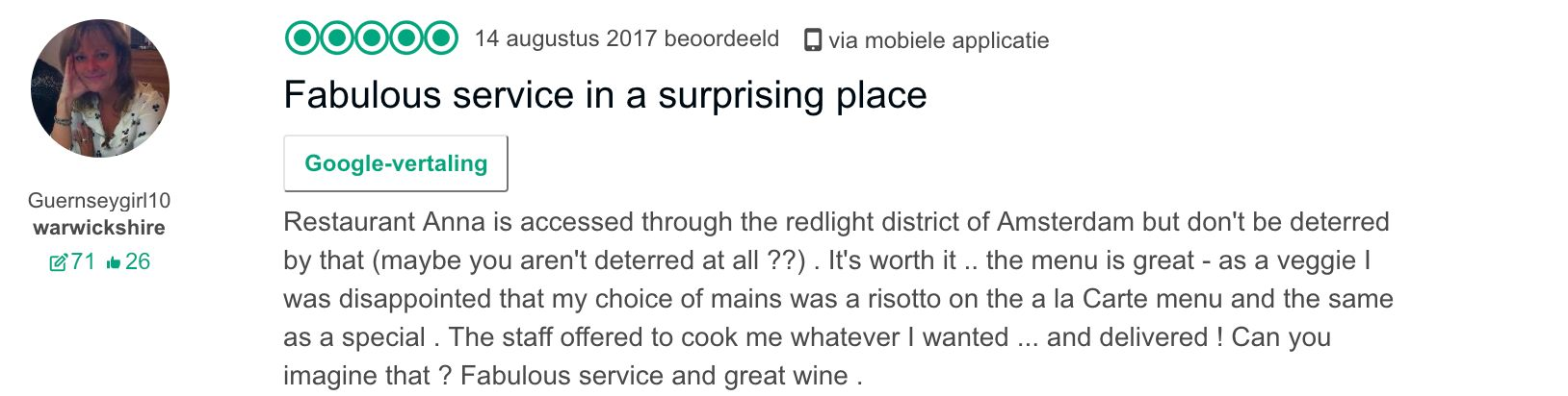 Restaurant Anna Tripadvisor Reviews