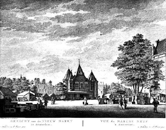The Waag and Amsterdam's New Market in 1767