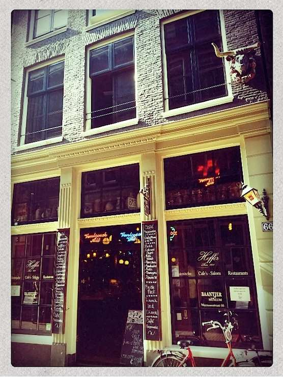 The other entrance of cafe Heffer (a.k.a Baantjer Museum) in the Red Light District of Amsterdam