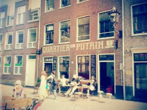 Coffeehouse Quartier Putain in Amsterdam's Red Light District
