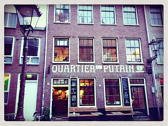 Quartier Putain is an awesome coffee shop in Amsterdam's Red Light District.