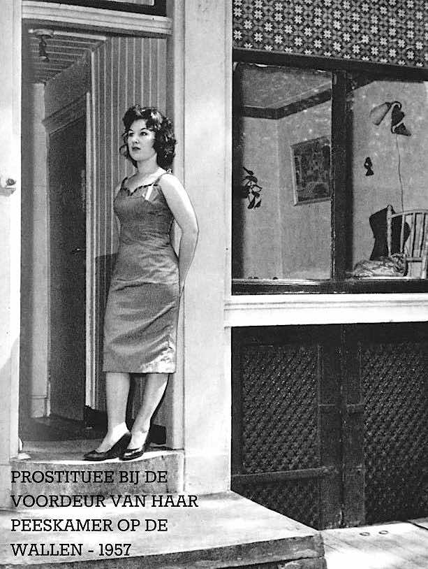 Amsterdam Red Light District Prostitute 1957