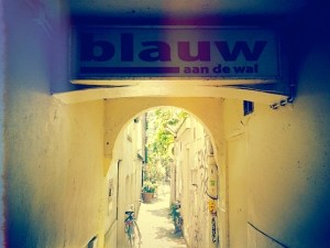 Restaurant Blauw aan de Wal in Amsterdam's Red Light District