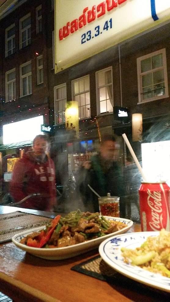 Thai Snack Bar Bird in Amsterdam. Located in the Red Light District, on the Zeedijk street.
