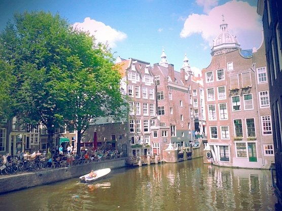 Cafe Aen 't Water in Amsterdam has one of the best views in the Red Light District.