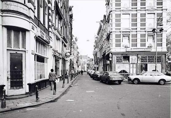 Amsterdam Red Light District Zeedijk Street 1980