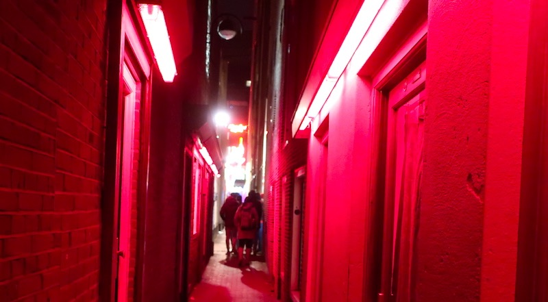 Amsterdam's Red Light District Alleys