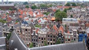 Old Church in Amsterdam Tower View