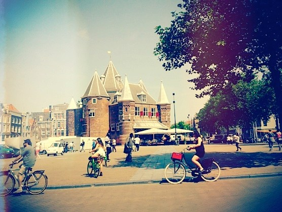 The New Market and the Waag in Amsterdam.