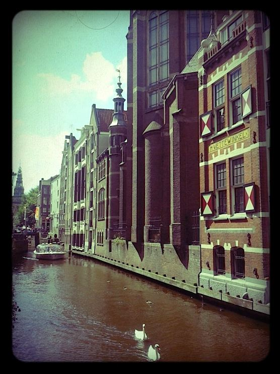 The beautiful waters of Amsterdam's Red Light District.