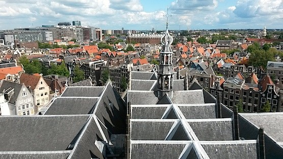 Amsterdam from above: Stunning view from roof of The Old Church