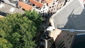 Amsterdam from above: The Old Church Square in The Red Light District