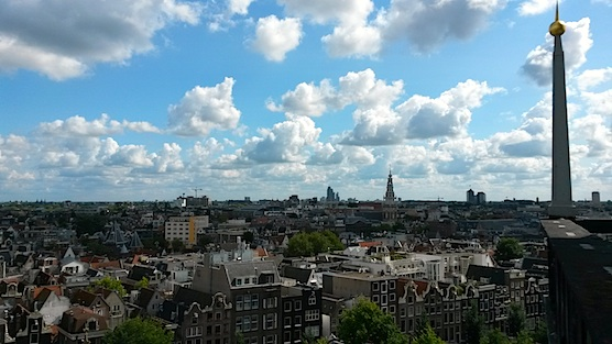 The view from The Old Church Tower in Amsterdam.