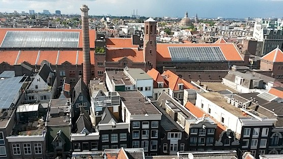 Amsterdam from above: The West-view of The Old Church