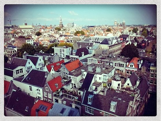 The stunning view from the Zuiderkerk Tower in Amsterdam