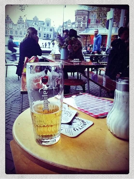 Cafe Fonteyn in Amsterdam's Nieuwmarkt has a great terrace and good beers!