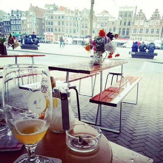 Cafe Fonteyn in Amsterdam Red Light District. Great place. Lovely view!