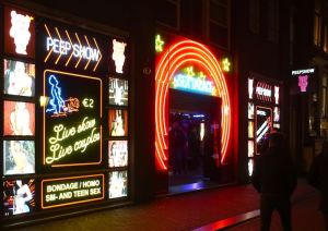Sex Palace Peep Show At Night