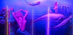 Amsterdam Sex Palace Peep Show interieur artwork