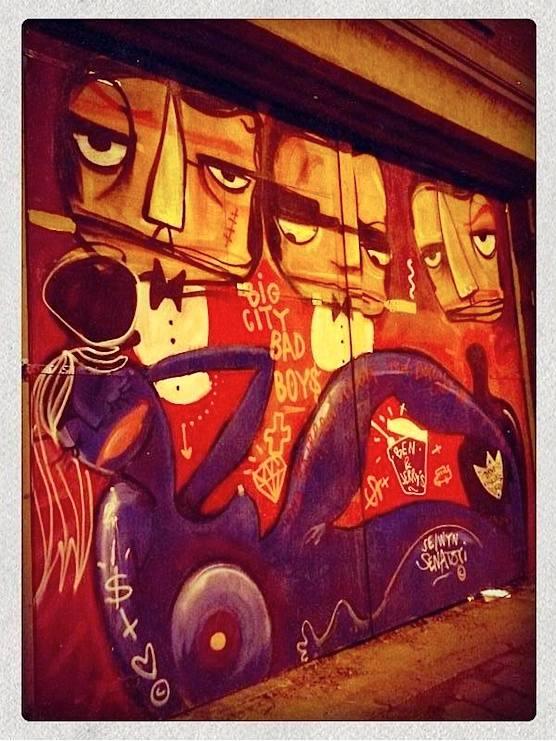 Street Art in Amsterdam. Rokin street.