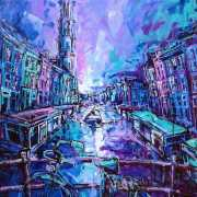 Amsterdam-Souvenir-Art-Painting-Postcards-Prinsengracht-Westertoren-small