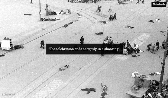 Place A Stone: The celebration on Dam Square 1945 ends in a shooting.