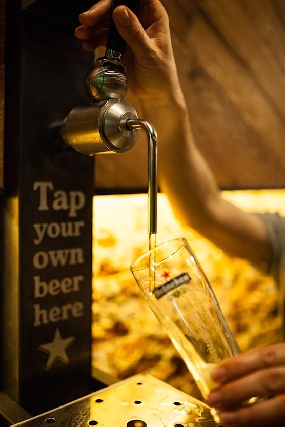Tap your own beer in Amsterdam Red Light District