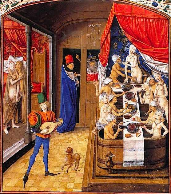 History of Prostitution - A brothel in 1470.