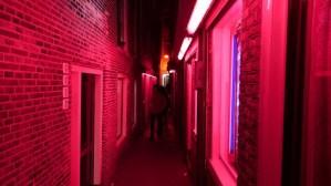 Dutch prostitute Amsterdam Red Light District narrow alleys