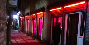 Dutch prostitute Amsterdam Red Light District Brothels