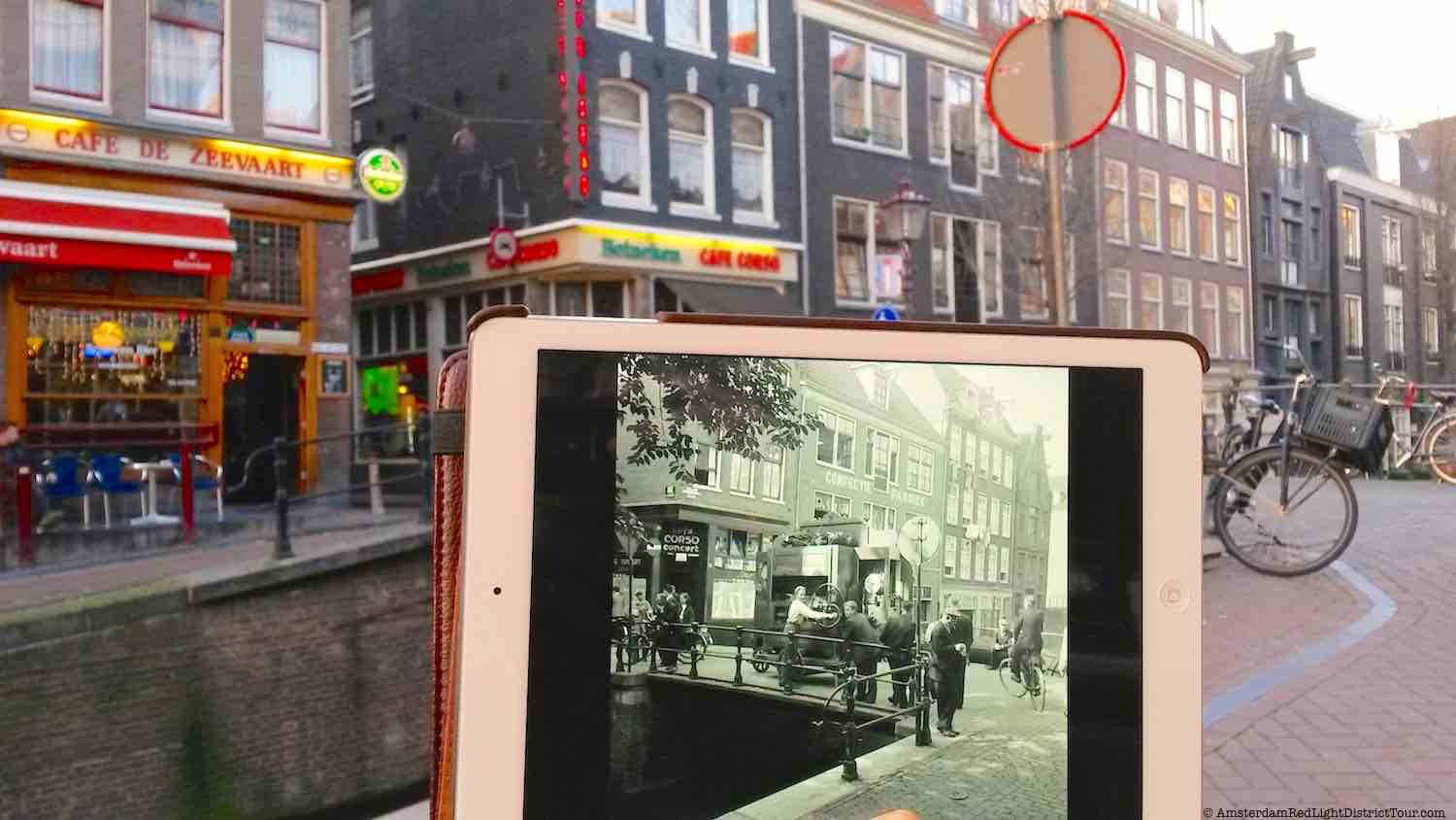 Amsterdam Red Light District Now and Then: Street Organ at Cafe Zeevaart