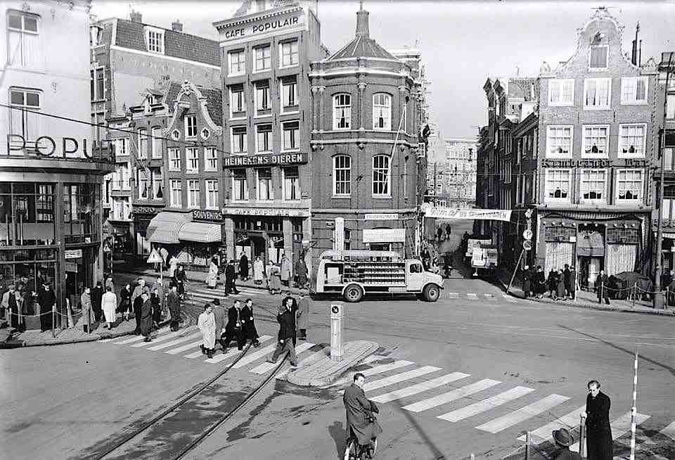 Amsterdam Rembrandt Square in the 1960's.