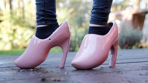 Amsterdam Fashion Dutch Stiletto Heel Clogs