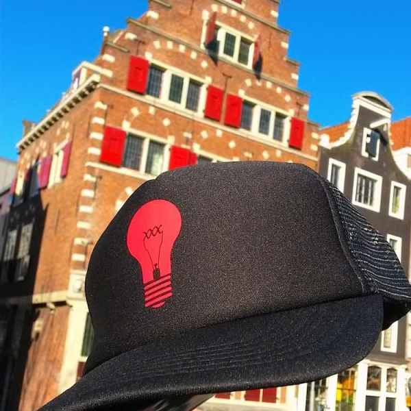 Red Light District Trucker Hats Mash Black