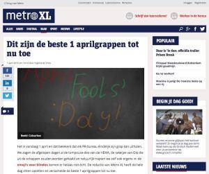 Metro XL - De Beste 1 Aprilgrappen tot nu toe