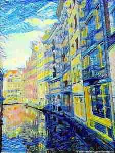 Amsterdam Starry Night by Van Gogh