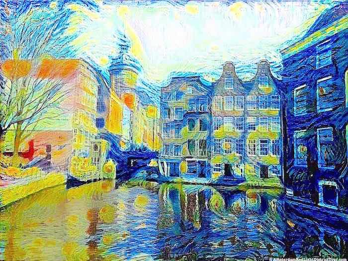 Amsterdam Red Light District by Van Gogh