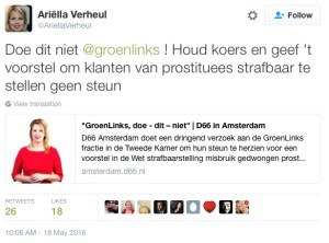 Dutch party D66 on Prostitution in Holland