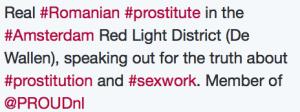 Romanian Window Prostitute Twitter Bio