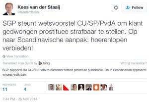 Dutch Party SGP On Prostitution Holland