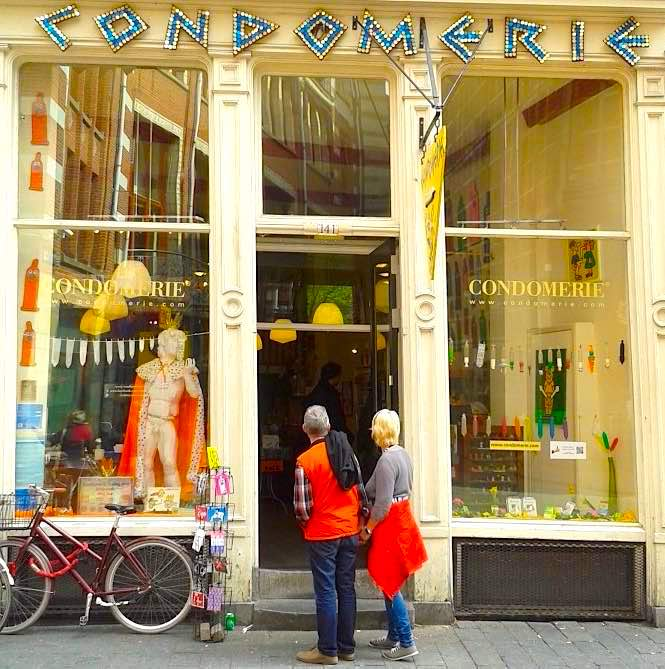 The most famous condom shop in Amsterdam's Red Light District
