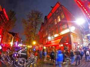 Amsterdam Red Light District Pedestrian Friendly